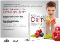Pozvánka na křest knihy Petra Fořta K čemu jsou diety