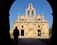 Malebný byzantský klášter Arkadi
