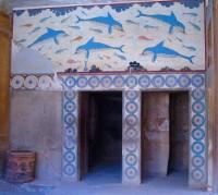 Známá freska s delfíny