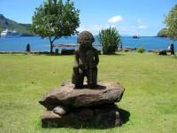 Tiki na ostrově Nuku Hiva na Markézách