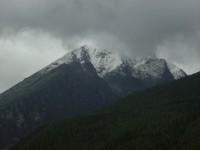 Zasněžený vrchol Slavkovského štítu