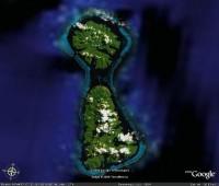 Satelitní pohled na Tahaa a Raiatea