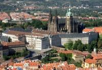 Pohled na Pražský hrad z Petřína