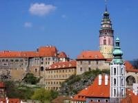 Mohutný českokrumlovský zámek