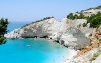 Nejkrásnější pláž Porto Katsiki na ostrově Lefkada