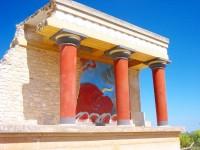 Krétský Knossos - freska býka