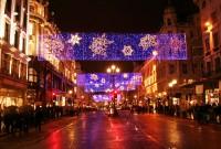 Noční atmosféra na Oxford Street