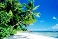 Pláž Anse Severe na ostrově La Digue