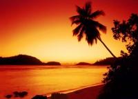 Nádherný západ slunce na Mahé