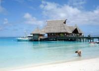 Pláže ostrova Bora Bora Nui