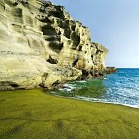 Olivínový písek na Green Sand Beach