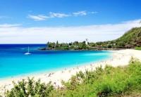 Nádherné barvy moře ostrova Oahu