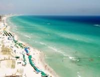 Floridské pláže bývají často plné turistů