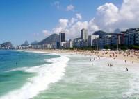 Slavná brazilská pláž Copacabana