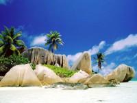 Granitové skály na ostrově La Digue