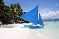 Plachetnice na ostrově Boracay