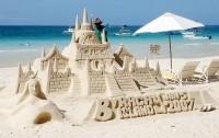 Hrad z písku na ostrově Boracay