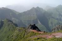 Vnitrozemí Madeiry je poměrně hornaté