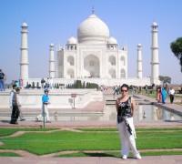 Adina Sobotová v Indii,Tádž Mahal Agra