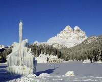 Italské lyžařské středisko Misurina