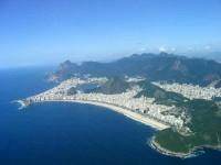 Letecký pohled na pláž Copacabana